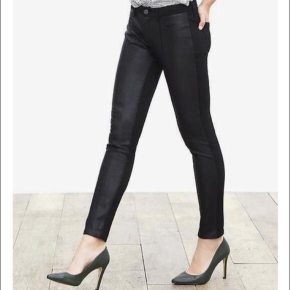 5f6da81fc95f37 Banana Republic Pants - Banana Republic Sloan faux leather leggings